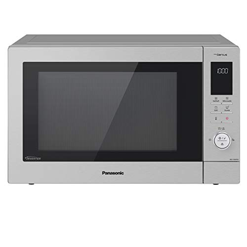 Panasonic NN-CD87 Kombi Mikrowelle (1000 Watt, mit Heißluft und Grill, Inverter Mikrowelle, 34 Liter) edelstahl