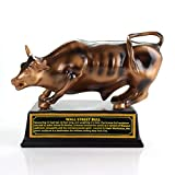Torkia - Official Licensed Bronze Wall Street Bull Stock Market NYC Figurine Statue with Base (Small)