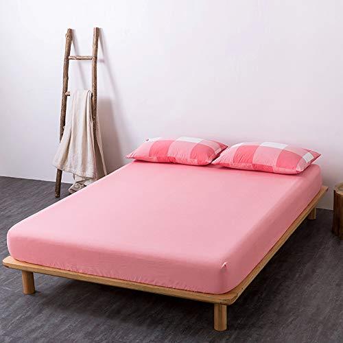 BOLO Sábana bajera ajustable de algodón de fácil cuidado, 120 cm x 200 cm