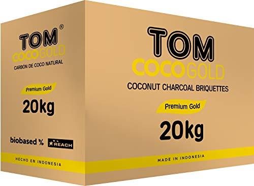 TOM Cococha Gold - Carbón natural para cachimba (20 kg)