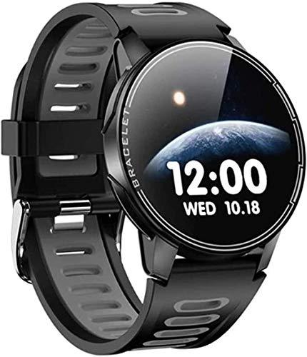 hwbq Pulsera inteligente de silicona con reloj deportivo resistente al agua, batería de larga duración, apto para ancianos y hombres y mujeres-B