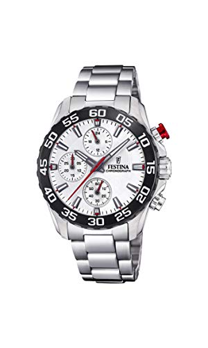 Festina Jungen Chronograph Quarz Uhr mit Edelstahl Armband F20457/1