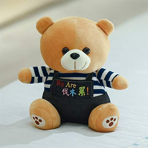 HUOQILIN Die Stoffspielzeuge Niedlicher Teddybär-Plüschspielzeug (Color : Blue, Size : 48cm)