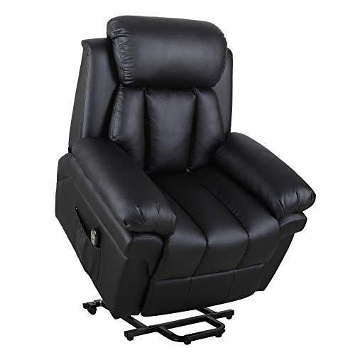 Homcom® Elektrischer Fernsehsessel Aufstehsessel Relaxsessel Sessel mit Aufstehhilfe (schwarz)