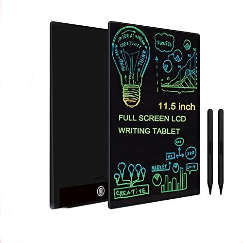 Tableta de Escritura LCD Tableta de Dibujo de Pantalla Colorida de 11.5 Pulgadas Pantalla Completa ultradelgada Imanes Integrados Tablero de Dibujo para el hogar, la Escuela y la Oficina,Black