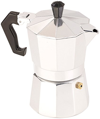 Cucina di Modena Kaffeebereiter: Espressokocher für 3 Tassen, Gas-, Elektro- & Glaskeramik-Herd, 150 ml (Espresso-Kocher)