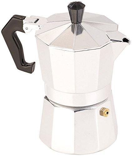Cucina di Modena Espresso-Kanne: Espressokocher für 3 Tassen, Gas-, Elektro- & Glaskeramik-Herd, 150 ml (Mokka-Kaffeekannen)