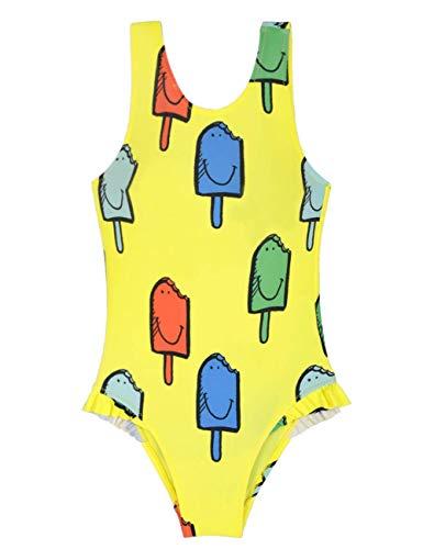 Septangle Mädchen Badeanzug Tank Badeanzug Kids Ice Dream Actionback Badeanzug für 3-4 Jahre