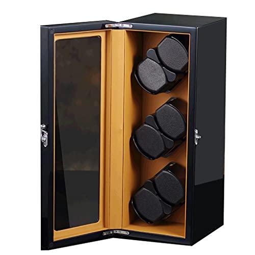 WRNM Cajas Giratorias para Relojes Pintura Piano Concha Madera Caja Almacenamiento De Lujo Madera Y Motor Extremadamente Silencioso Grande 6 + 0
