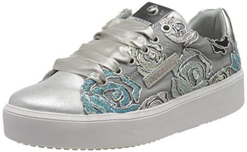 Dockers by Gerli Damen 44NA201-706555 Sneaker, Silber (Silber/Weiss 555), 39 EU