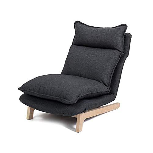 WYD Faule Couch Tatami Stuhl Folding Portable Baby Stuhl,Lazy Sofa Schlafsessel Klappmatratze Mit Einstellbar Rückenlehne,Schwarz
