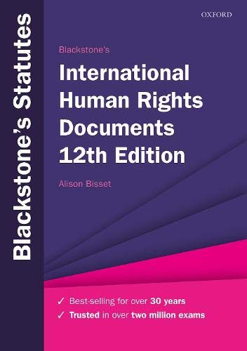 Blackstone's International Human Rights Documents (Blackstone's Statute Series)