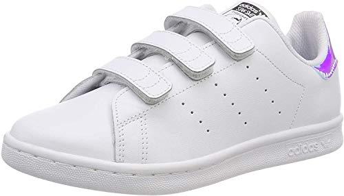 adidas Unisex-Kinder Stan Smith Cf C Fitnessschuhe, Mehrfarbig (Plasld/Ftwbla 000), 33 EU