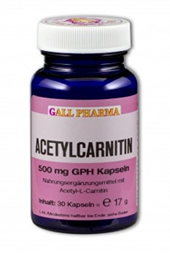 Gall Pharma Acetylcarnitin 500 mg GPH Kapseln, 1er Pack (1 x 750 Stück)