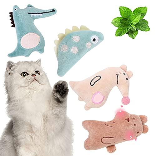 Juguetes de peluche de menta para gatos,Juguete con Menta para Gatos,Juguetes Hierba Gatera,Juguetes del Catnip Almohada Gato,Catnip Juguetes Interactivo para Gatos,juguete de peluche menta