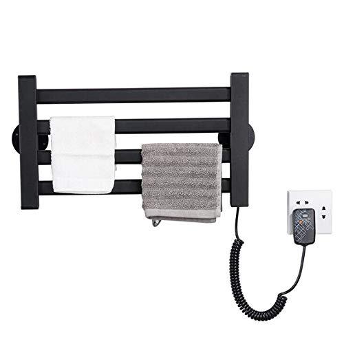 Abodos Riel De Toallas con Calefacción, Baño De Cocina Radiador Radiador RAD Towel Warmer, 48 × 25CM, 44 Vatios,Negro