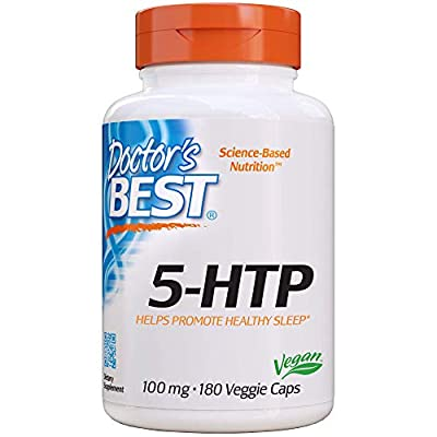 Doctor's Best 5-Htp, Non-GMO, Vegan, Gluten Free, Soy Free, 100 Mg, 180 Veggie Caps