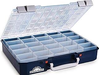 RAACO CarryLite 80 - Caja organizadora (5 x 10-25 mm, 413 x 330 x 79 mm, 25 compartimentos), color azul translúcido