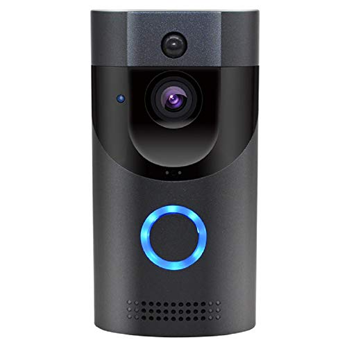 Aodley Intelligente wasserdichte Ring-Video-Türklingel IP65, WiFi-Fernsprechanlage FIR-Warnung IR-Nachtsicht 720P IP-Kamera