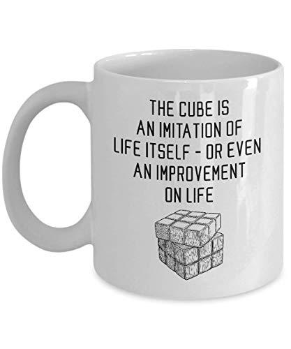 Divertido Rubik CubeCoffee Mug The Cube es un regalo sarcasmo inspirador único de imitación para el jugador de Rubik Hombres Mujeres