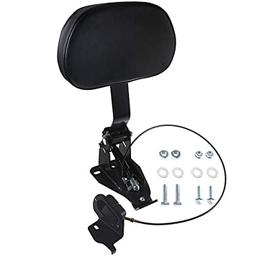 Adjustable Driver Backrest With Mount For Harley Touring Street Glide Road King Electra Glide CVO 2009-2020