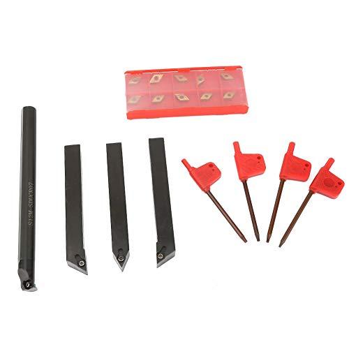 Inserciones de carburo de hoja de corte de torneado Inserciones de torneado de precisión de alta torneado con barra de vástago recto para tornear torno