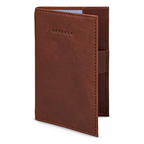Hoxton porta carte in pelle con passante per penna by Gryphen, marrone