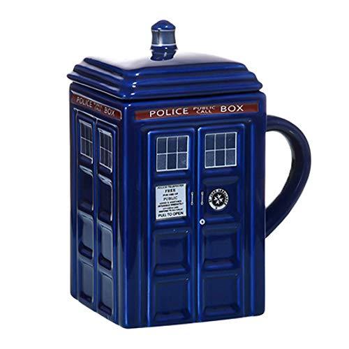 SENFEISM Arbeitsbecher Doctor Who Tardis Police Box Keramikbecher Tasse mit Deckelabdeckung für Tee Kaffeebecher Lustiges kreatives Geschenk Kinder Männer | Becher |- Aliexpress