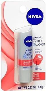 Nivea Lip Care A Kiss of Care & Color, (0.17 oz/ 4.8 g) (Sheer Coral)