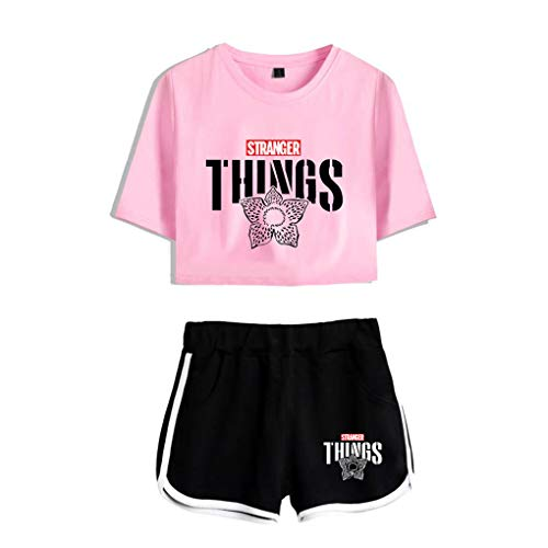 Memoryee Stranger Things imprimiendo Camisetas y Shorts Tops