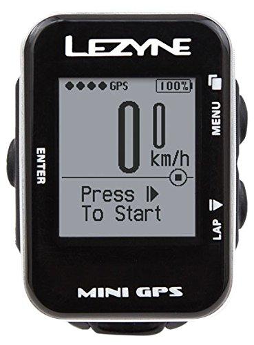 Lezyne Computer Mini GPS, Negro, 1de GPS de Mni de V106