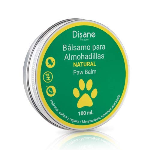 DISANE Bálsamo Patas Perro Natural 100ml | Bálsamo para Almohadillas Secas, Irritadas e Inflamadas | Hidrata, Calma y repara Las Patas del Perro