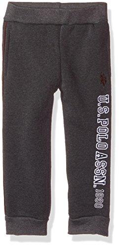 U.S. POLO ASSN. Fille E7NE00-081015-F.25 Polo Assn. Pantalon de Jogging en Polaire pour garçon. Slip - Gris - 2 Ans