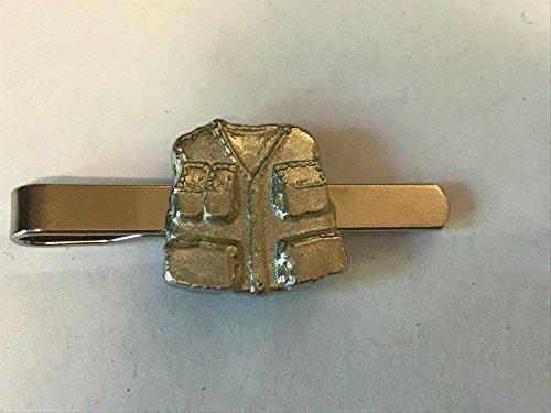 Angeln Jacke tg26a aus feinem englischen Moderne Zinn auf einer Krawatte Clip (Slide) geschrieben von uns Geschenke für alle 2016von Derbyshire UK