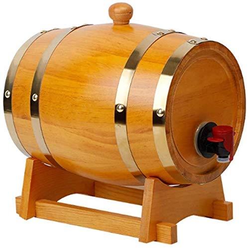 DECANTER semplicità Barilotto di Vino dell'Annata 1500ml Botte di Legno per Lo Stoccaggio O L'invecchiamento Vino Whisky della Birra Rum Bourbon Tequila Casa CHENGYI (Color : Default)