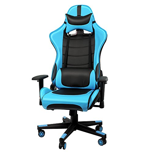 IntimaTe WM Heart Silla Gaming, Racing Silla Gamer, PU Ergonómica Silla Giratoria...