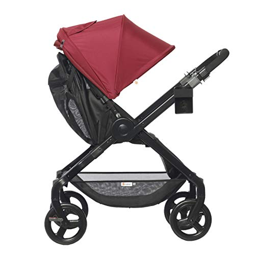 Ergobaby Stroller, Travel System Ready, 180 Reversible with One-Hand Fold, Red, Red - 180 Stroller, STRJRED