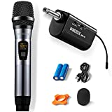 Wireless Microphone with Rechargeable Receiver,ARISEN Professional UHF Dynamic 16 Channel Handheld Microphone,280ft Range Cordless Mic System for Karaoke, Wedding, Church, DJ, Speech, Singing Machine