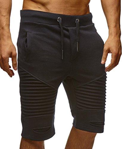 Leif Nelson Herren Kurze Hose Shorts Sweatshorts LN9025; Größe M, Schwarz