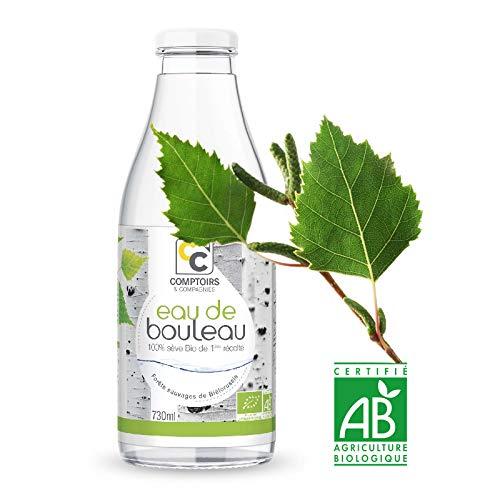 Eau de Bouleau Bio 730ml • Eau végétale Bio • Eau Bio • Sève de Bouleau • Comptoirs & Compagnies