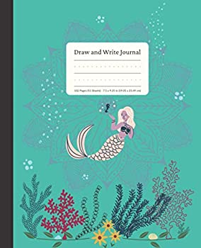 Draw and Write Journal  For Kids age 4-8 years old Mermaid Activity Book Handwriting Practice Early Learners Guided Kindergarten Composition .. Lines Primary Writing Paper with Picture Box
