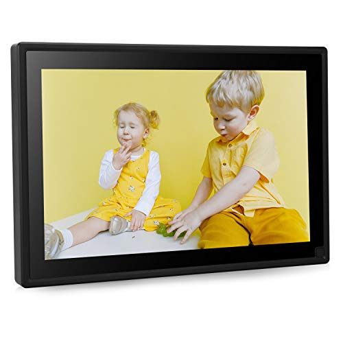 Dhwazz Digital Photo Frame, No Subscription Fee IPS HD Electronic Picture Frames with High Resolution Screen, Share Moments via USB and SD Card, Support Slideshow, Wall-Mountable