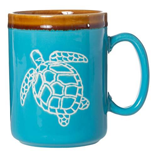 Cape Shore 18oz Hand Glazed Stoneware Pottery Mug, Multiple Styles Available (Turtle)