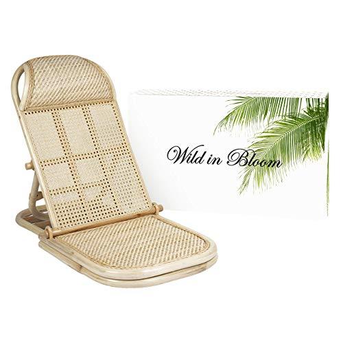 Wild In Bloom, folding rattan beach chair