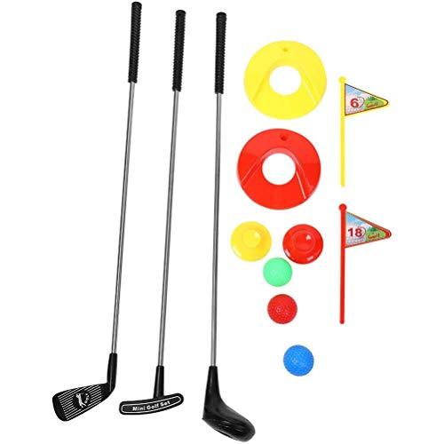 taianle Juego de Juguetes de Golf Portátil para Niños de 10 Piezas Mini Juguete de Club de Golf para Niños Juego Al Aire Libre para Aprender a Poner Golf para Niños en Edad Preescolar