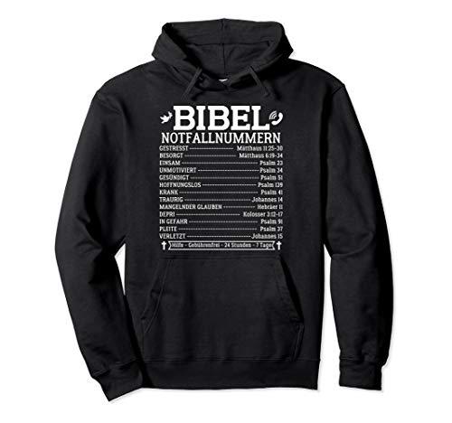 Bibel Notfallnummern Lustiges Bibelverse Taufe Christliche Pullover Hoodie