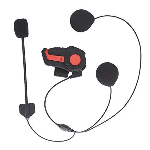 Rehomy 1000 m motocicleta intercomunicador auricular casco inalámbrico sistema de comunicación soporte 3 jinete para motociclistas esquiadores