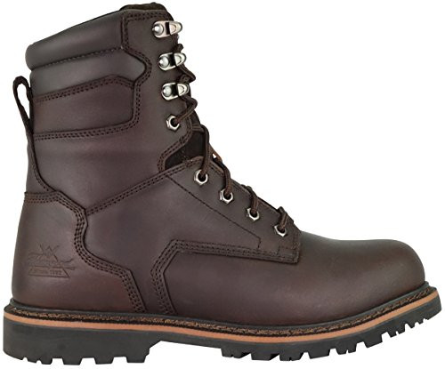 Thorogood 804-4279 V-Series Men's 8' Work Boot Safety Toe, Brown - 10.5 2E US