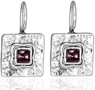 New Shablool Jewelry Amazing 925 Sterling Silver Garnet bordaux round Pendant
