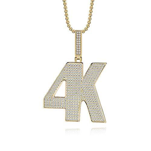 MSSZH Halskette Herrenschmuck Hip Hop Anhänger Simple 4K Temperament Trends, S
